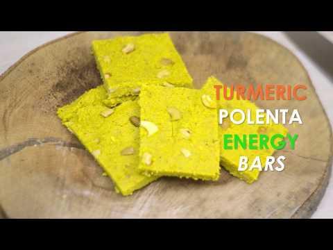 Turmeric Polenta Energy Bars Recipe - Superfood World