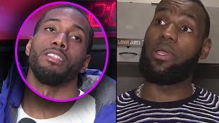 """Kawhi Leonard Tells Lebron """"STOP TEXTING ME... IM NOT COMING TO THE LAKERS"""" & Lebron GOES IN"""