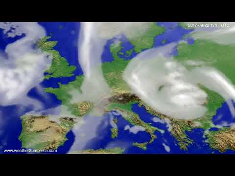 Cloud forecast Europe 2017-09-18