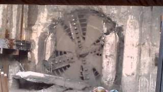 Spadina Subway TBM Break Through North WYE Keele Street Toronto