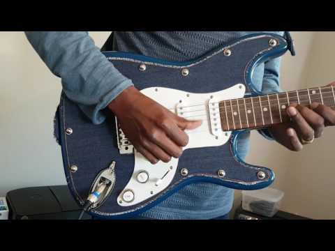 Moon Custom Guitars - Denim Guitar - Made in New Zealand