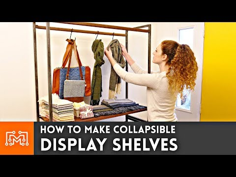 How to make Collapsible Display Shelves // Woodworking & Metalworking