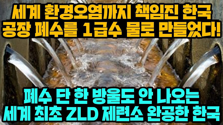[경제] 세계 환경오염까지 책임진 한국공장 폐수를 1급수 물로 만들었다! 폐수 단 한 방울도 안 나오는 세계 최초 ZLD 제련소 완공한 한국
