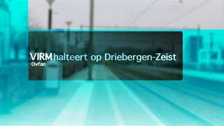 VIRM halteert op station Driebergen Zeist