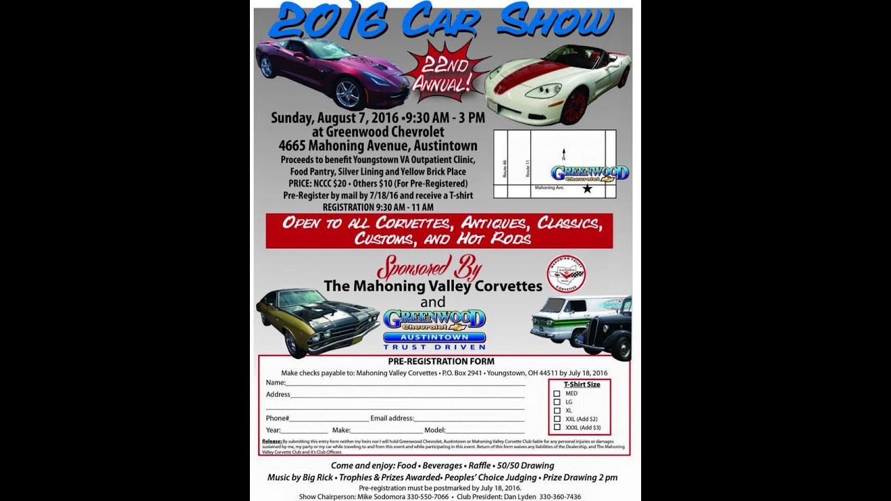 Greenwood Chevrolet Austintown Car Show 2016 - YouTube