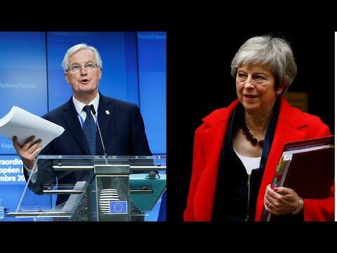 """Barnier e May em """"sprint"""" para evitar """"tragédia britânica"""""""