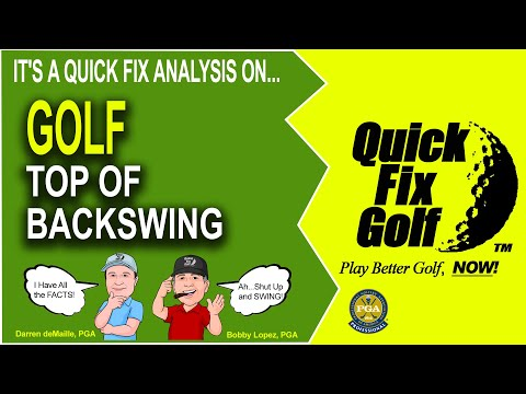 Golf Back Swing Position