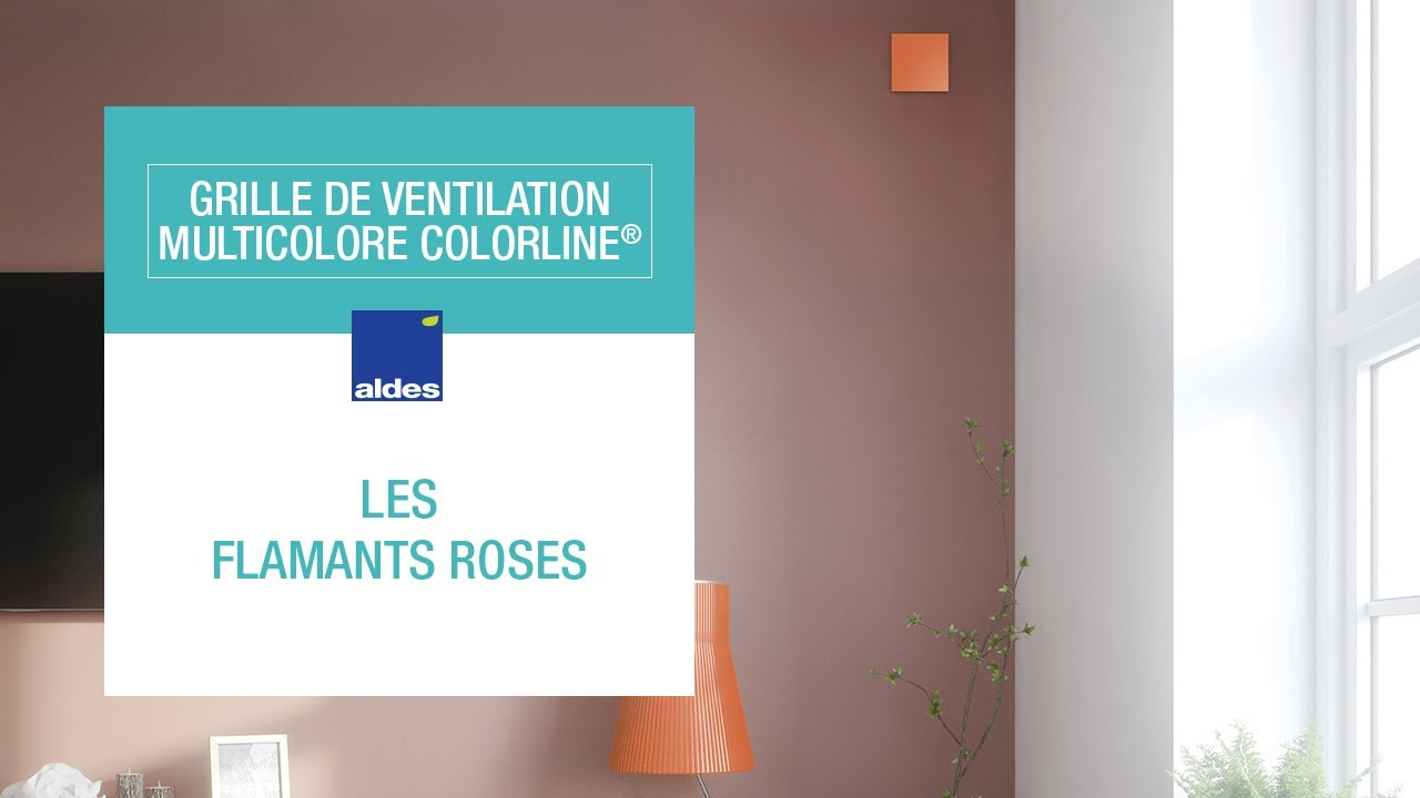 Grille De Ventilation Multicolore Colorline Les Flamants Roses