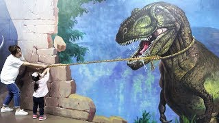 엄청 큰 공룡을 잡았어요!! 서은이의 박물관은 살아있다 트릭아이 공룡 상어 Trick Eye Museum Alive