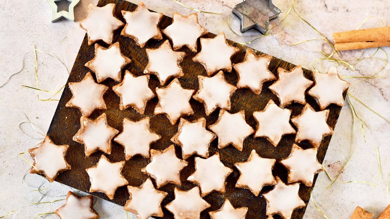 Zimtsterne (Cinnamon Stars) 4-Ingredient German Christmas Cookies