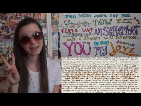 ☀ Summer Love ☀  || One Direction Lyric Drawing