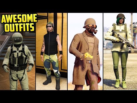 GTA Online FASHION FRIDAY! 15+ Awesome Outfits! (The Astronaut, NCR Ranger, Military Biker & More)