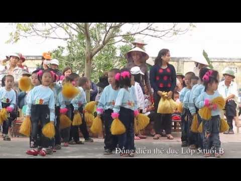 Đồng diễn thể dục lớp 5 tuổi B Trường mầm non Thuỵ Quỳnh 2013
