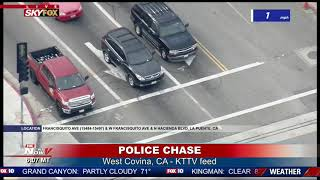 FULL CHASE COVERAGE: Driver of alleged stolen vehicle surrenders in SoCal