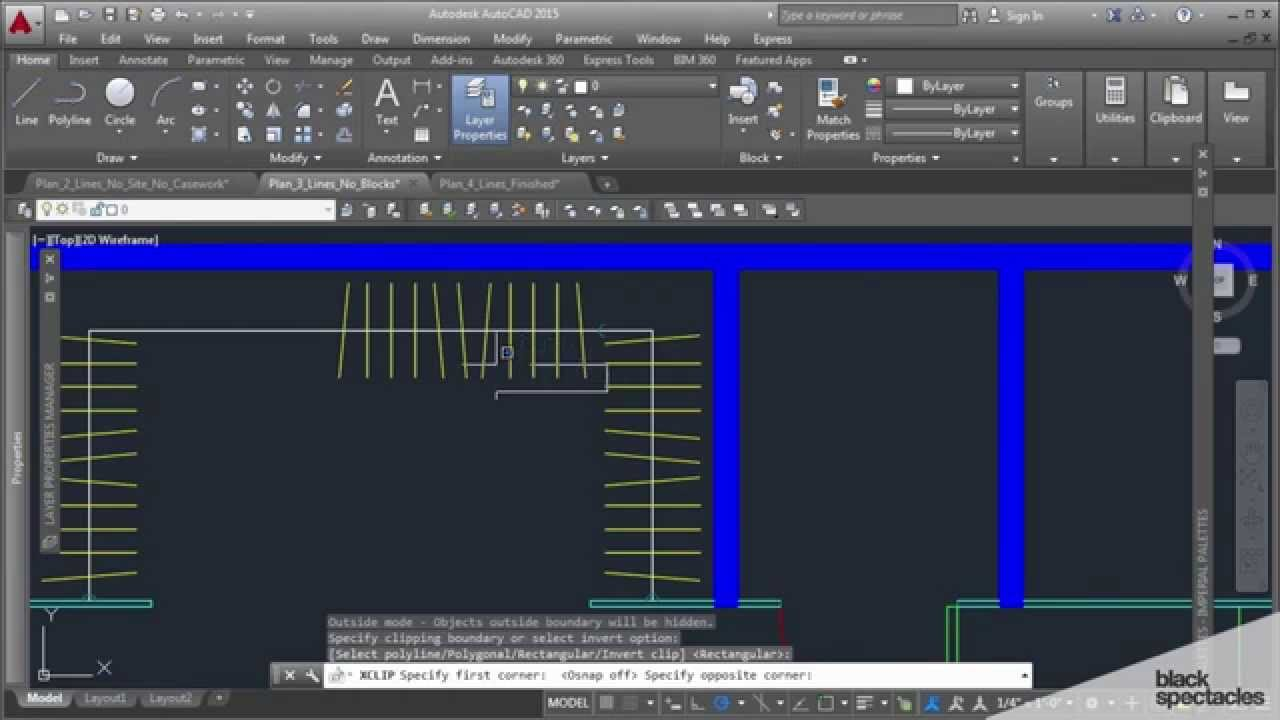 Filling A Closet Using Blocks And Xclip Autocad 2015
