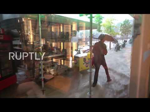 Greece: Torrential downpours flood Thessaloniki