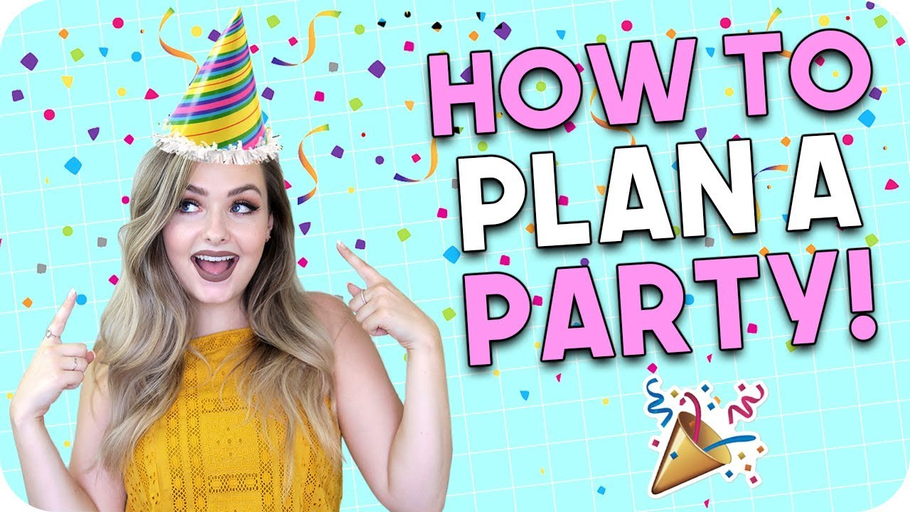 how to plan a party party planning checklist youtube