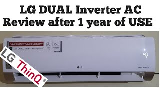 LG Dual Inverter AC Review after 1 year of Use