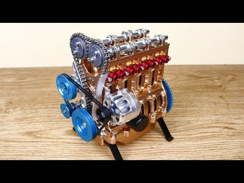 How to build Car Engine Assembly Kit - Full Metal 4 Cylinder