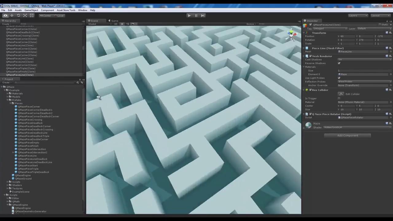 Unity Asset Store Pack - QMaze Maze Mesh Generator (Download link in  description)