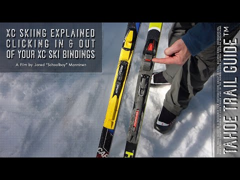 Clicking In And Out Of Your Cross-Country Ski Bindings