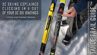 Clicking In And Out Of Your Xc Ski Bindings Youtube