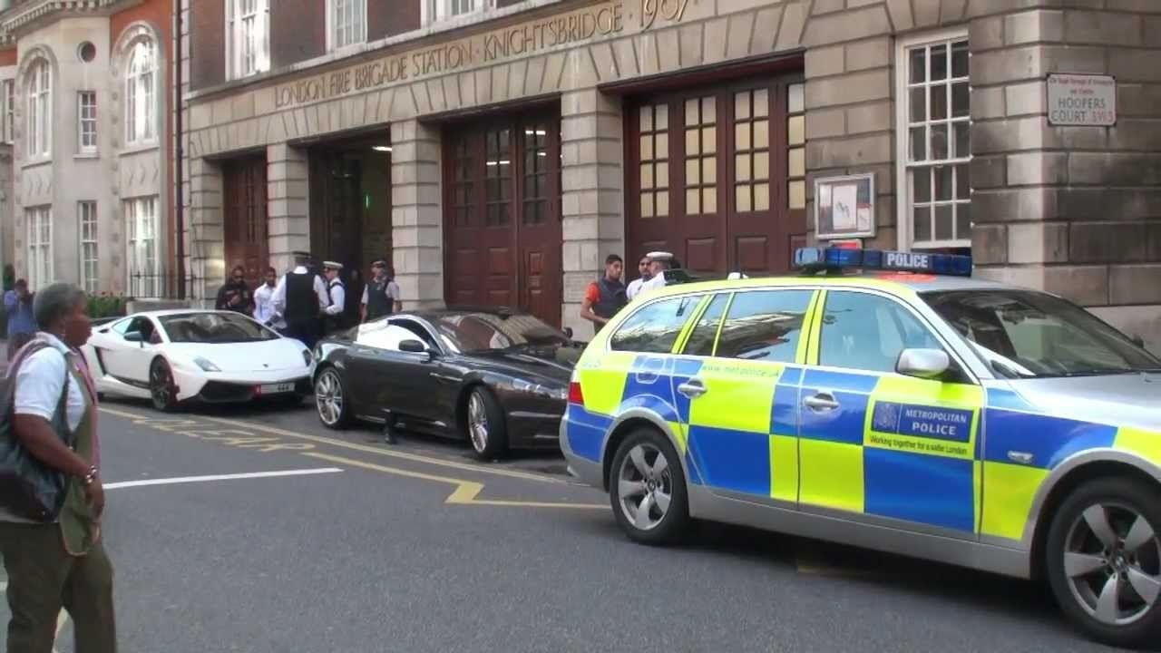 Police Stops Arab Supercars In London Youtube