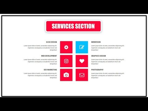 How To Create Services Section For Website Design Using HTML & CSS