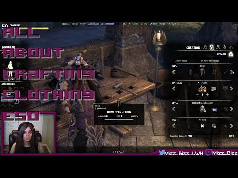 Crafting Clothing in ESO!