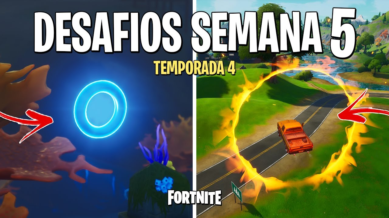 FORTNITE - RESOLVER DESAFIOS SEMANA 5 TEMPORADA 4