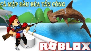Roblox | Tribe Goes into the belly of the giant hammerhead sharks | SharkBite | Vamy Tran