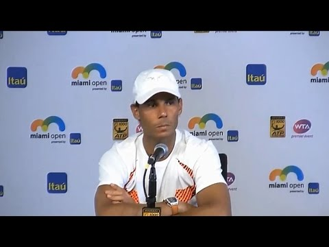 Rafael Nadal Press conference after the Final at Miami Open 2017