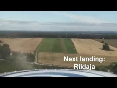 Cessna 150 flying over South Estonia. Lend Lõuna-Eestis