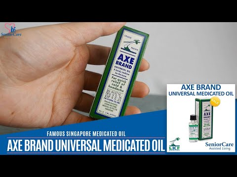 NEWLY DEVELOPED Famous Singapore Axe Brand Universal Medicated Oil for fever, runny nose, headache