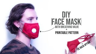Face Mask with Breathing Valve DIY