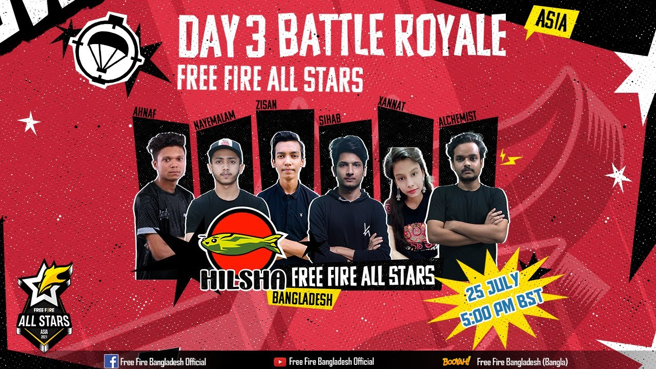 [BANGLA] Free Fire All Stars Asia   Day 3 - Battle Royale
