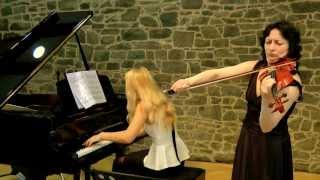 Grieg Violin Sonate c moll op.45 Nr.3 mov.1 ,Inna Kogan und Helen Blau