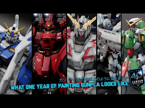 My first year of painting Gundam Model Kits aka Gunpla ガンプラ全塗装!