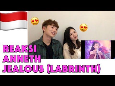 Orang Korea Reaksi ANNETH - JEALOUS (Labrinth) Reaction (Indonesian Idol Junior 2018)
