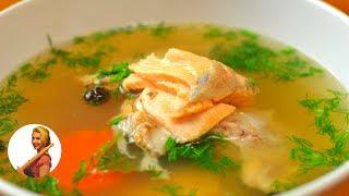 УХА из Красной Рыбы ( Простой и Вкусный Рецепт) | Salmon Soup Recipe Готовить просто с Люсьеной