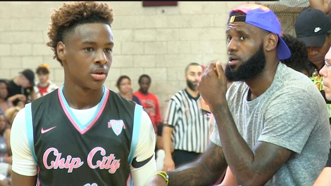 e322788b7222 LEBRON JAMES JR GOES UP 18-2 THEN IT GETS HEATED THE GAME GOES INTO  OVERTIME!