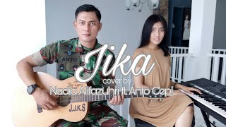 Jika by Melly Goeslaw & Ari Lasso (Acoustic Cover) | #covernyananad ft. Anto Cepi