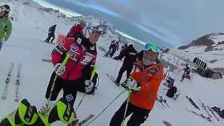 Alpine Skier Chemmy Alcott in action on the slopes