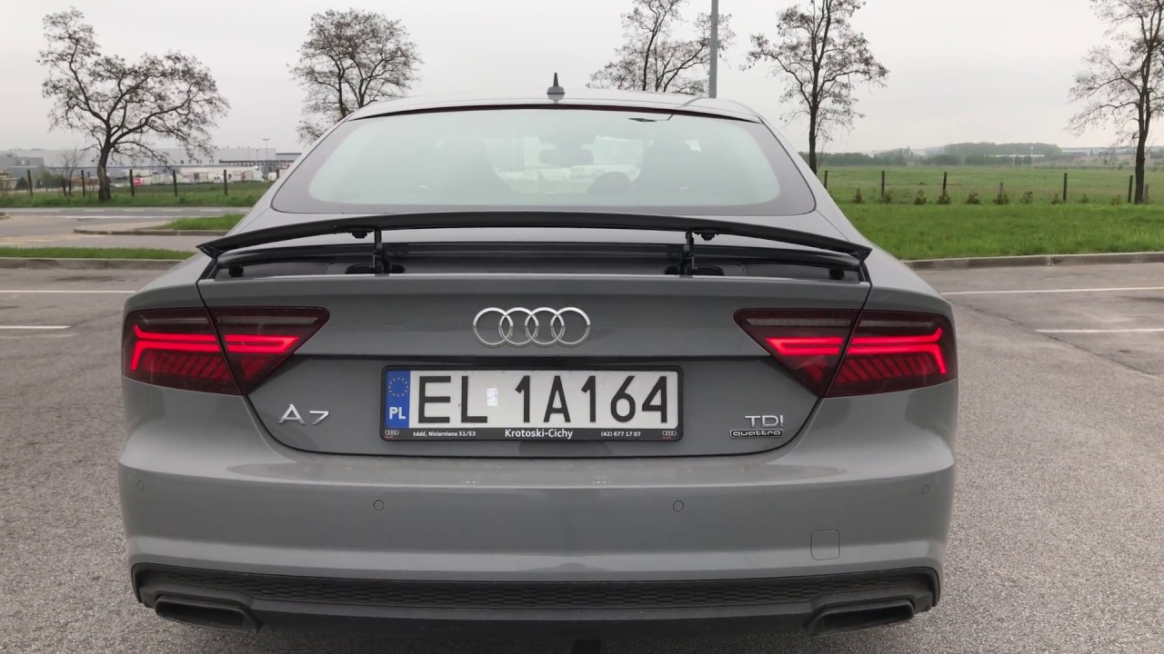 audi a7 sportback competition rear spoiler youtube