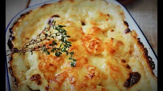 French Potato Gratin With Comte & Gruyere Cheese | French Bistro Recipes