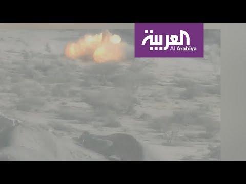 فيديو من طائرة للتحالف يوثق قصف مدفع مضاد للطائرات تملكه الميليشيات