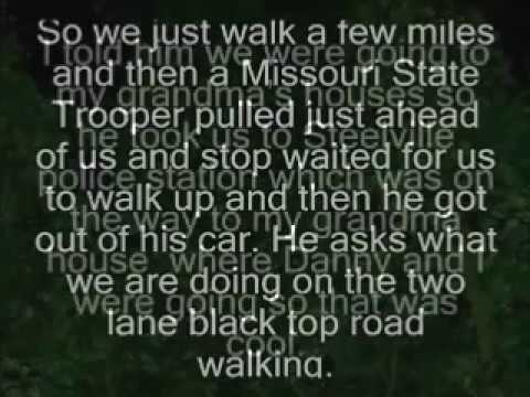 Reptilian abduction while hitch hiking in Missouri