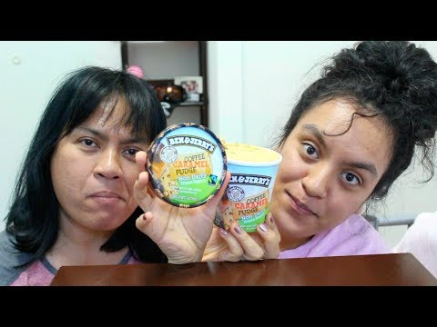 Eating Coffee Caramel Fudge Ben & Jerry's Ice Cream MUKBANG