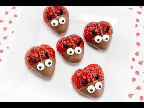 Chocolate Covered Strawberry Ladybugs