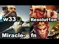 20k Comeback - w33 Miracle- Matumbaman Misery vs Resolution fn Ramzes FPL DOTA 2